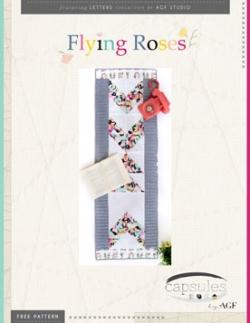 Flying-Roses-Table-Runner-Pattern