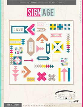 Signage Quilt by AGF Studio