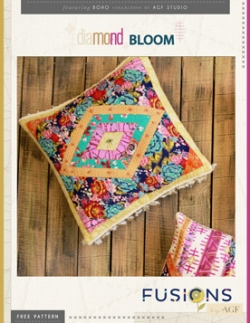 Diamond Bloom Pillow by AGF Studio