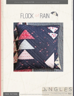 Flock of Rain Pillow by AGF Studio