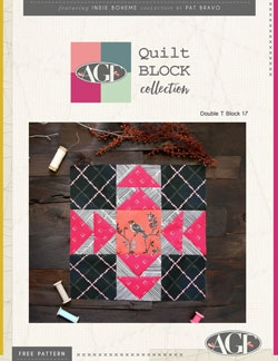 Double T Quilt Block by AGF Studio