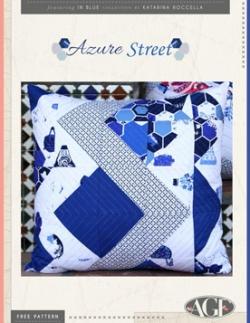 Azure Street Pillow by AGF Studio
