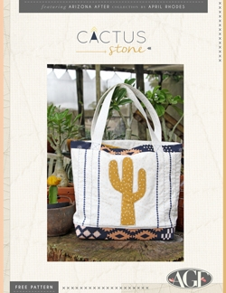 """Cactus Stone"" Free Tote Bag Pattern designed & from Art Gallery Fabrics"