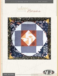 Warm Horizon Pillow by AGF Studio