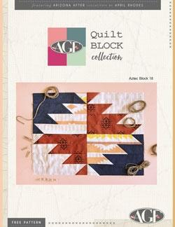 Aztec Quilt Block Pattern by AGF Studio