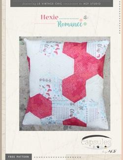Hexie Romance Pillow by AGF Studio