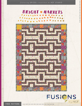 Bright Markets Quilt by AGF Studio
