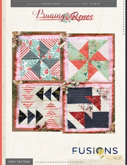 Pruning Roses Quilt Blocks by AGF Studio