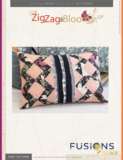 Zig Zag Blooms Pillow by AGF Studio Instructions