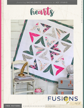 Hearts Quilt by AGF Studio