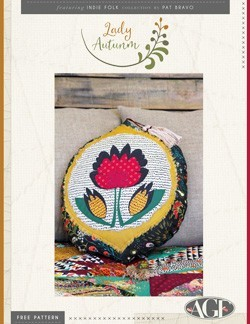 Lady Autumn Pillow by AGF Studio