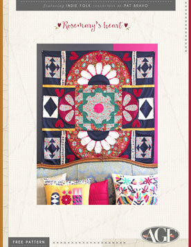 Rosemary Free Quilt Patterns by Pat AGF Studio