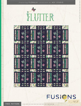 Flutter Quilt Pattern by AGF Studio