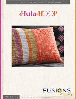 Hula Hoops Pillow by AGF Studio Instructions