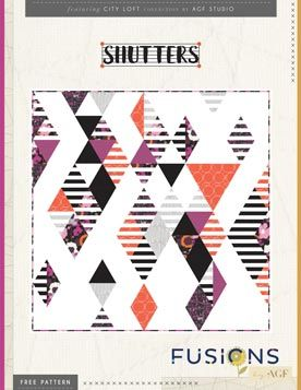 Shutters Quilt Pattern by AGF Studio