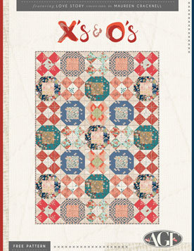 X's and O's Free Quilt Pattern by Maureen Cracknell