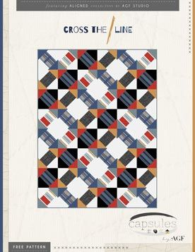 Cross the Line Quilt Pattern by AGF Studio