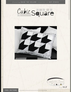 Cubic Square Pillow by AGF Studio Instructions