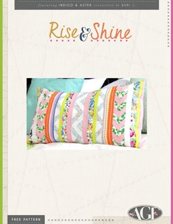 Rise & Shine Pillow by AGF Studio Instructions