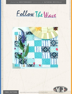 Follow the Wave Placemats by AGF Studio Instructions