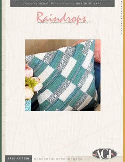 Raindrops Pillow Pattern Instructions