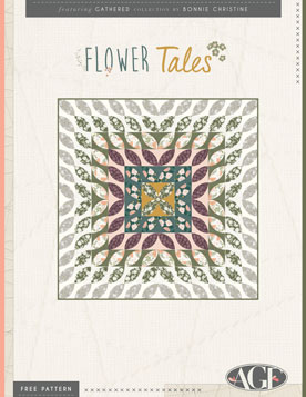 Flower Tales Quilt by AGF Studio