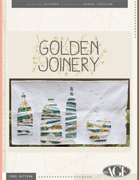 Golden Joinery Quilt by AGF Studio