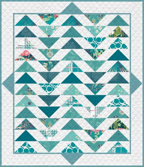 KPQF-108 TEAL THOUGHTS Quilt Kit