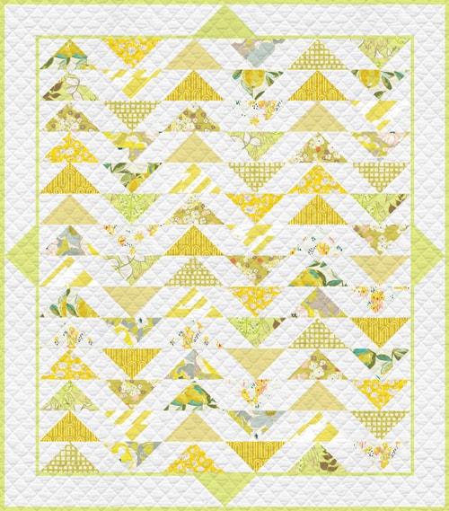 KPQH-106 Lemon Green Quilt Kit