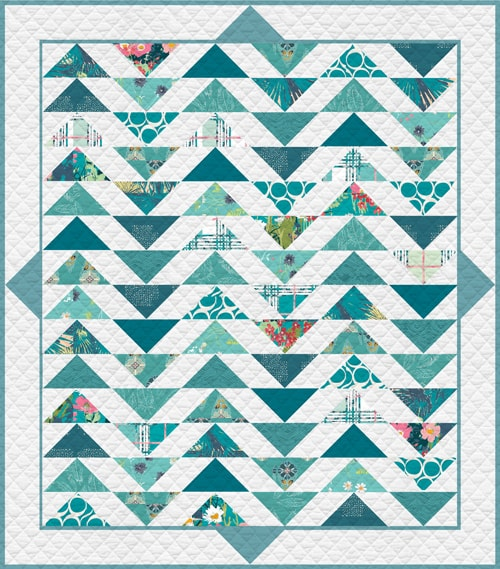 KPQH-108 Teal Thoughts Quilt Kit