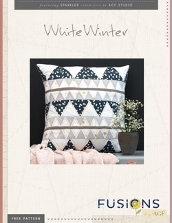 White Winter Pillow by AGF Studio Pattern