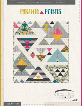 Pyramid Points Quilt by AGF Studio