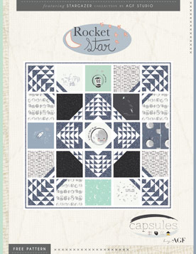 Rocket Star Quilt by AGF Studio