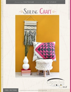 Sailing Craft Pillow by AGF Studio Instructions