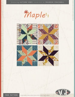 Maple Quilt Blocks Instructions by AGF Studio