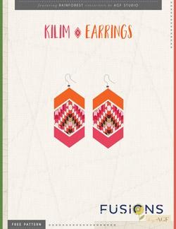 Kilim Earrings Instructions by AGF Studio