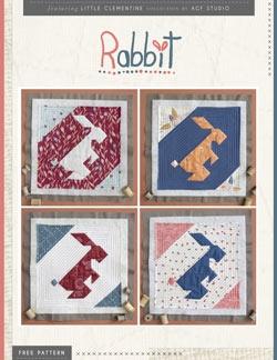 Rabbit Quilt Block Instructions by AGF Studio