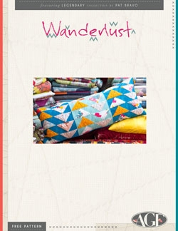 Wanderlust Pillow Instructions by AGF Studio
