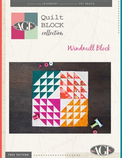 Windmill Quilt Block instructions by AGF Studio