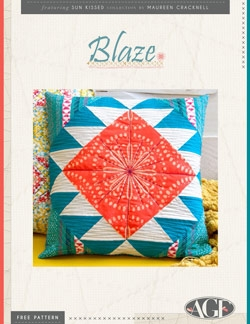 Blaze Pillow Instructions by AGF Studio