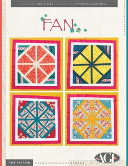 Fan Quilt Block Instructions by AGF Studio
