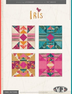 Iris Quilt Block Instructions by AGF Studio