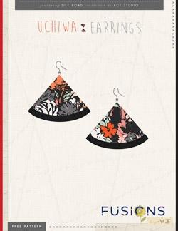 Uchiwa Earrings Instructions by AGF Studio
