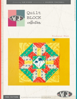 Windswept Quilt Block Instructions by AGF Studio