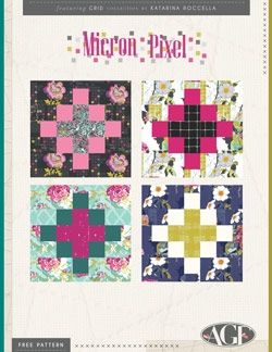 Micron Pixel Quilt Block Instructions by AGF Studio