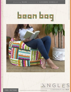 """Bean Bag"" Free Quilted Gift Idea Pattern designed by Angles from Art Gallery Fabrics"