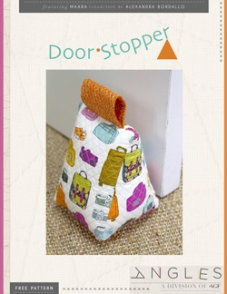 """Door Stopper"" Free Quilted Gift Idea Pattern designed by Angles from Art Gallery Fabrics"