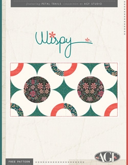 """Wispy Rug"" Free Quilted Gift Idea Pattern designed by Angles from Art Gallery Fabrics"